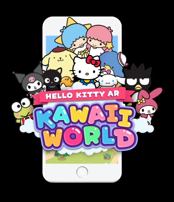 Hello Kitty AR: Kawaii World - game logo phone